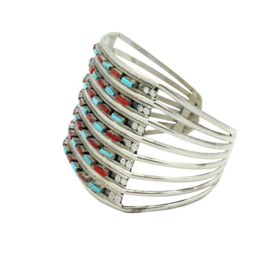 Load image into Gallery viewer, Connie Hattie, Bracelet, Sleeping Beauty Turquoise, Mediterranean Coral,  6.5