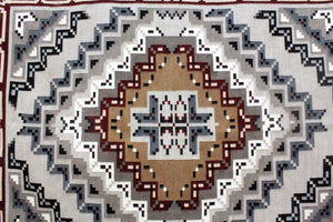 "Margie Elwood, Red Two Grey Hills Rug, Navajo Handwoven, 63"" x 47"""
