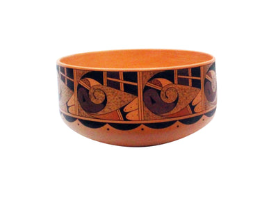 "Load image into Gallery viewer, Stetson Setalla, Hopi Hand Coiled Pottery, Large Bowl, 6"" x 11.25"""