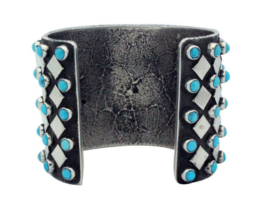 Load image into Gallery viewer, Ernest Rangel, Bracelet, Sterling Silver, Turquoise, Navajo Handmade, 6 1/2""