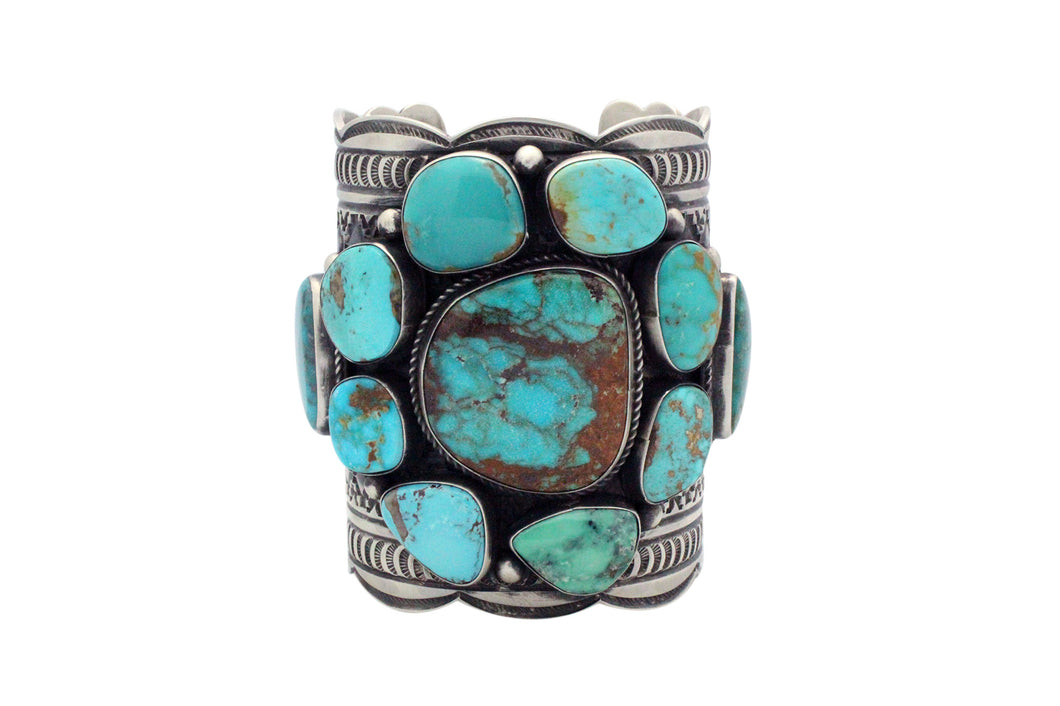 Andy Cadman, Bracelet, Arizona, Nevada Turquoise, Silver, Navajo made, 7