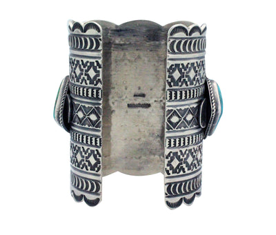 Load image into Gallery viewer, Andy Cadman, Bracelet, Arizona, Nevada Turquoise, Silver, Navajo made, 7