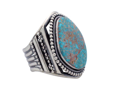 Load image into Gallery viewer, Ernest Roy Begay, Bracelet, Pilot Mountain Turquoise, Navajo Handmade, 7