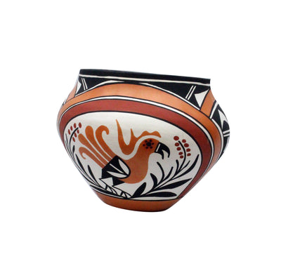 Load image into Gallery viewer, Loretta Joe, Acoma Pottery, Jar, Hand Coiled, Bird Design 7.5 x 9.5 in