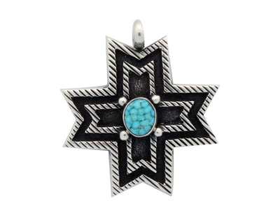 Load image into Gallery viewer, Aaron Anderson, Pendant, Number Eight Turquoise, Navajo Handmade, 2