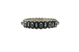 Donovan Cadman, Bangle Bracelet, Denim Lapis, Diamond Design, Navajo