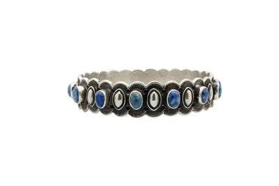 Load image into Gallery viewer, Donovan Cadman, Bangle Bracelet, Denim Lapis, Diamond Design, Navajo