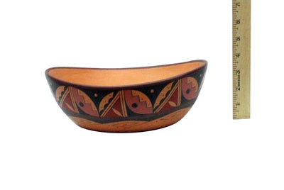 Load image into Gallery viewer, Stetson Setalla, Bowl, Hand Coiled Pottery, Hopi Handmade, 9.75 x 4 in