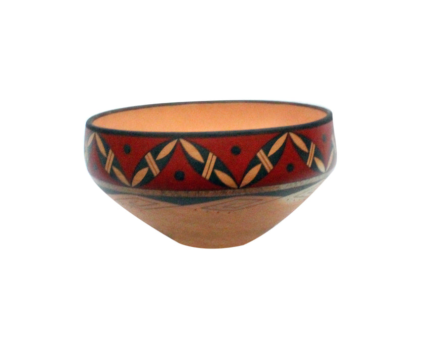 Stetson Setalla, Bowl, Hand Coiled Pottery, Hopi Handmade, 9 x 5 in