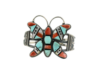 Load image into Gallery viewer, Freddie Maloney, Lisa Tucson, Bracelet, Butterfly, Navajo, Zuni Handmade, 6 7/8