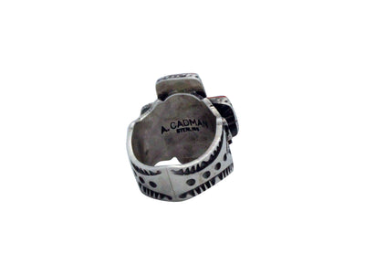Load image into Gallery viewer, Andy Cadman, Ring, Spiny Oyster Shell, Sterling Silver, Navajo Handmade, 8