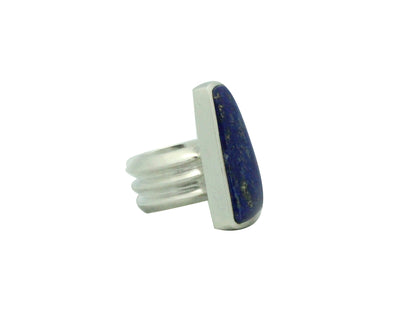Load image into Gallery viewer, Darryl Dean Begay, Ring, Lapis Lazuli, Sterling Silver, Navajo Handmade, 8
