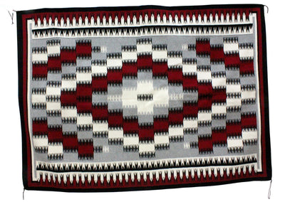 "Load image into Gallery viewer, Theresa Begay, Eye Dazzler Rug, Navajo Handwoven, 59"" x 83"""