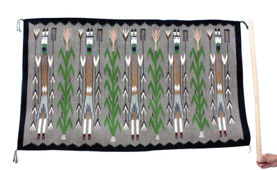 "Load image into Gallery viewer, Rena John, Yei Rug, Navajo Handwoven, 54"" x 32"""