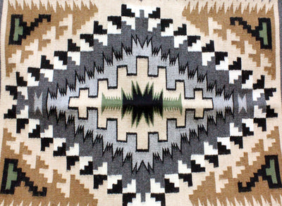 "Load image into Gallery viewer, Elizabeth Benally, Eye Dazzler Rug, Navajo Handwoven, 27"" x 40"""