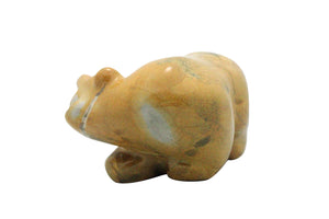 Orin Eriacho, Bear Fetish, Travertine, Hand Carved, 2.75""