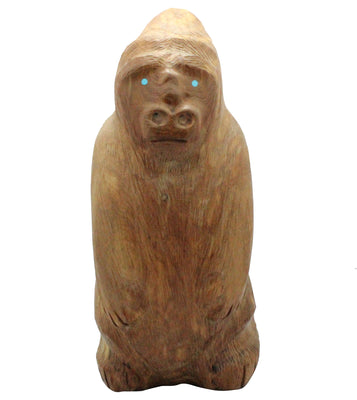Load image into Gallery viewer, Herbert Halate, Gorilla, Wood,  Zuni Handmade, 8.5""