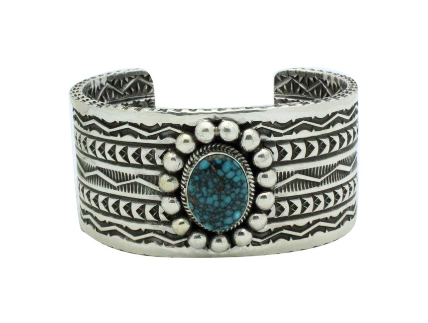Sunshine Reeves, Bracelet, Stamping, Two Sided Design, Navajo Handmade, 6.6