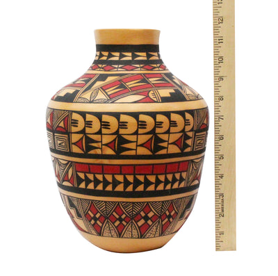 "Load image into Gallery viewer, Alta Yesslith, Hopi Pottery, Hand Coiled, Vase, 11"" x 8.5"""