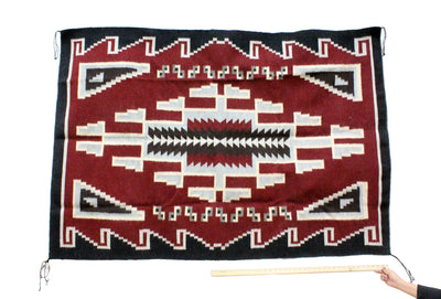 "Load image into Gallery viewer, Donald Yazzie, Navajo Chief Blanket, Hand Woven, 48"" x 70"""