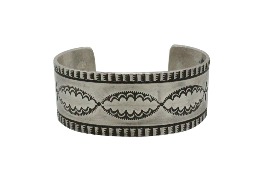 Darryl D Begay, Bracelet, Traditional, Ingot, Sterling Silver, Navajo Made, 7.4