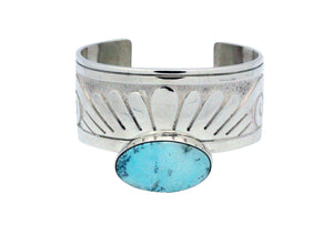 Jonathan Mike, Bracelet, Eagle Design, Overlay, Dry Creek Turquoise, Navajo, 7""
