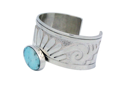 Load image into Gallery viewer, Jonathan Mike, Bracelet, Eagle Design, Overlay, Dry Creek Turquoise, Navajo, 7""