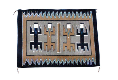 "Load image into Gallery viewer, Anna Gray, Yei Rug, Navajo Handwoven, 34"" x 47"""