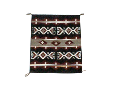 "Load image into Gallery viewer, Elvana Van Winkle, Small Revival Rug, Navajo, Made, 23"" x 20"""