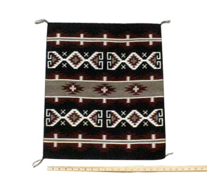 "Elvana Van Winkle, Small Revival Rug, Navajo, Made, 23"" x 20"""