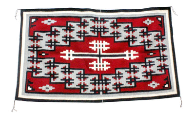 "Load image into Gallery viewer, Shirley Sandoval, Navajo Rug, Navajo Handwoven, 58"" x 35"""