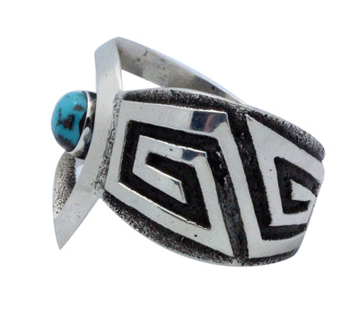 Load image into Gallery viewer, Aaron Anderson, Bracelet, Bisbee Turquoise, Tufa, Silver, Navajo Handmade, 5.75