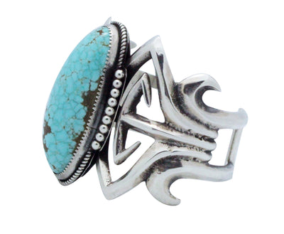 Load image into Gallery viewer, Carole, Wilson Begay, Bracelet, Silver, Number Eight Turquoise, Navajo Made, 6.5