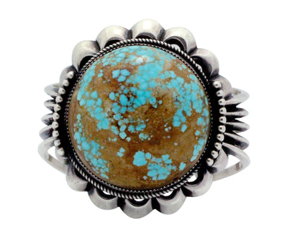 Load image into Gallery viewer, Carole, Wilson Begay, Bracelet, Silver, Number Eight Turquoise, Navajo Made, 7