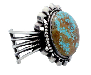 Carole, Wilson Begay, Bracelet, Silver, Number Eight Turquoise, Navajo Made, 7