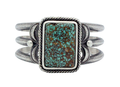 Load image into Gallery viewer, Roy Tracy, Bracelet, Turquoise Mountain, Sterling Silver, Navajo Handmade, 7 3/8""