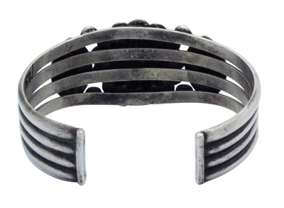 Load image into Gallery viewer, Edison Sandy Smith, Bracelet, Revival Style, Bump Outs, Navajo Handmade, 6 15/16""