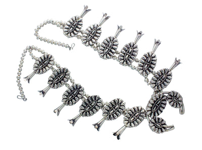 Load image into Gallery viewer, Melvin Francis, Necklace, Cluster Design, Sterling Silver, Navajo Handmade, 28