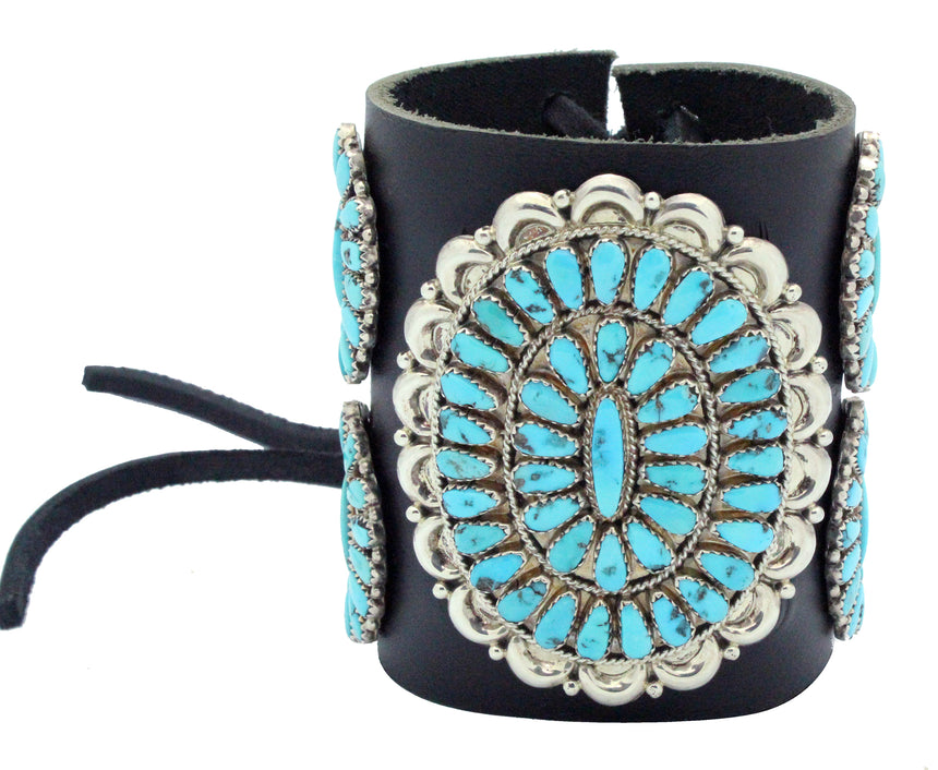 Justin, Saraphina Wilson, Bow Guard, Sleeping Beauty Turquoise, Navajo Made,