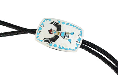Load image into Gallery viewer, Ruddell, Nancy Laconsello, Bolo, Knifewing, Multi Stone Inlay, Zuni Made,