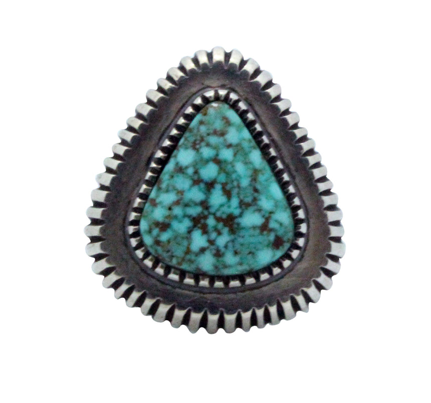 Harrison Jim, Ring, Turquoise Mountain, Sterling Silver, Navajo Handmade, 11
