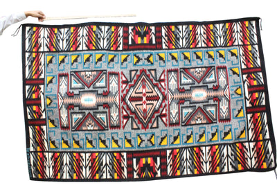 "Load image into Gallery viewer, Louise Begay, Water Flows Together, Rug, Navajo, 58"" x 92"""