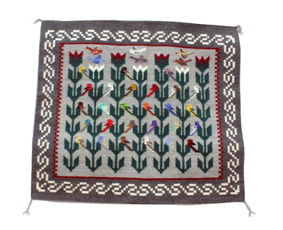 "Load image into Gallery viewer, Marilyn Begay, Navajo, Pictoral, Rug, Handwoven, 39"" x 42"""