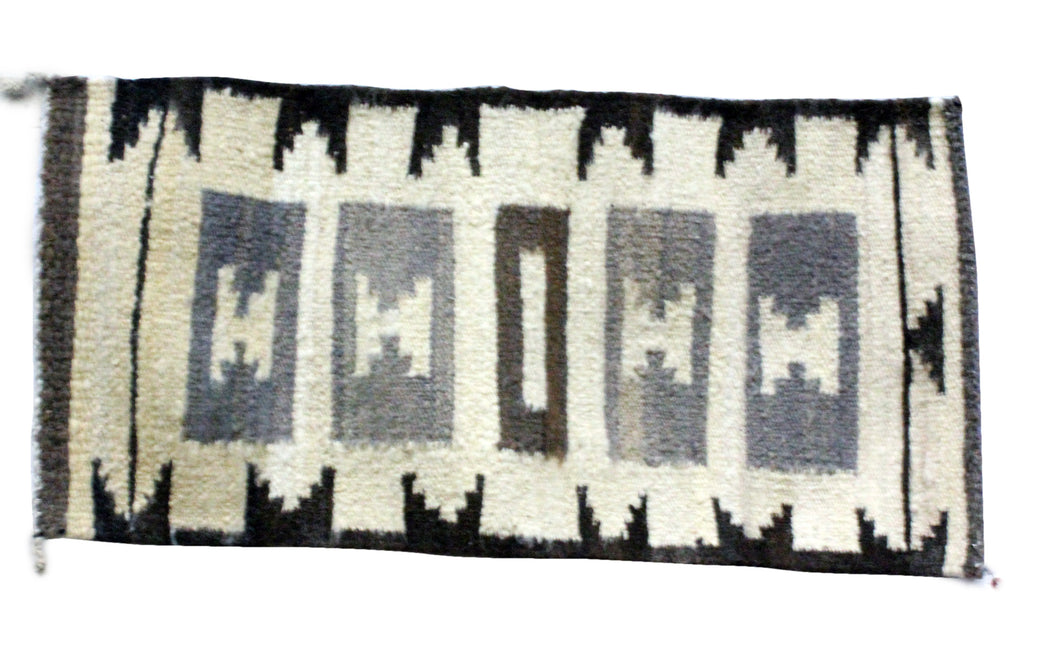 Gloria Francis, Throw Rug, Navajo, Handmade, 18.5