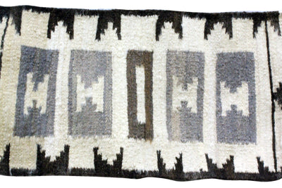 "Load image into Gallery viewer, Gloria Francis, Throw Rug, Navajo, Handmade, 18.5"" x 37"""