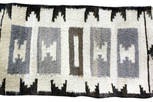 "Gloria Francis, Throw Rug, Navajo, Handmade, 18.5"" x 37"""