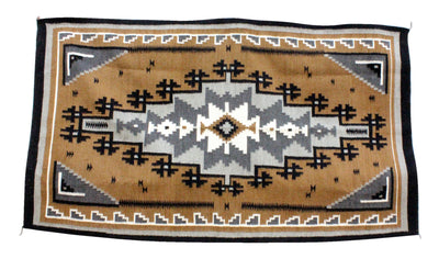 "Load image into Gallery viewer, Lucy Manning, Kalgetoh Rug, Navajo Handwoven, 70.5"" x 40"""