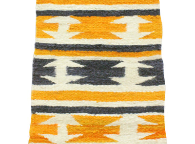 Load image into Gallery viewer, Gallup Throw Rug, Navajo Wool Cotton, Handwoven, 18 x 34.5 in