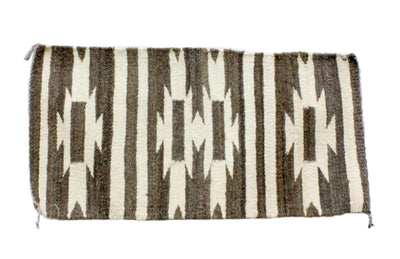 Load image into Gallery viewer, Gallup Throw Rug, Navajo Wool Cotton, Handwoven, 19.25 x 37 in