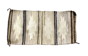 Gallup Throw Rug, Navajo Wool Cotton, Handwoven, 38.5 x 18.25 in